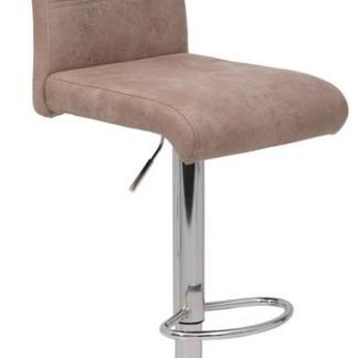 Barová židle Miranda, béžová vintage látka