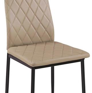 Jídelní židle Rimini, béžová ekokůže