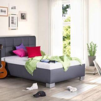 Čalouněná postel Kelly 120x200 šedá koženka - BLANAŘ