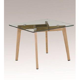 Konferenční stolek, sklo / kov s úpravou buk, PEDREK Typ 1 0000191299 Tempo Kondela