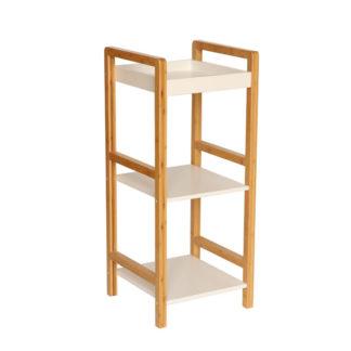 Úložný regál NIMES lakovaný bambus / bílá Tempo Kondela