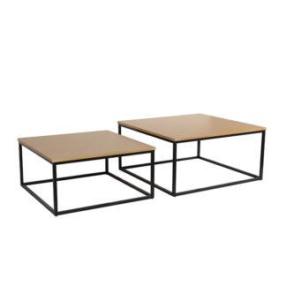 Set dvou konferenčních stolků, buk/černá, KASTLER TYP 1 0000240325 Tempo Kondela