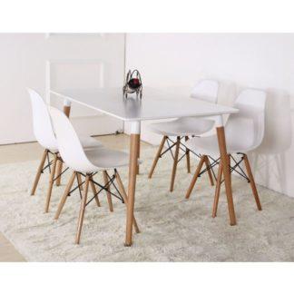 Jídelní stůl, bílá/buk, DIDIER 3 NEW 0000229185 Tempo Kondela
