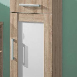 Koupelnová boční skříňka Poseidon, dub Sonoma