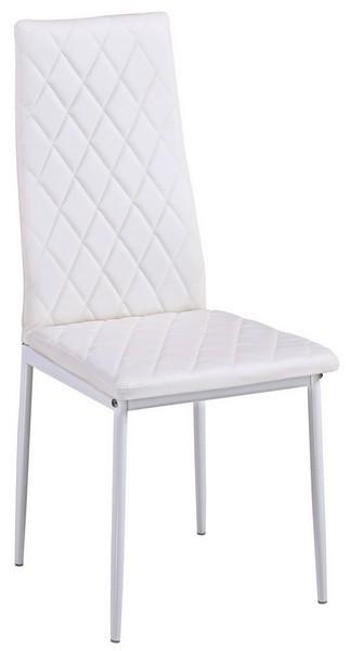 Jídelní židle Rimini, bílá ekokůže
