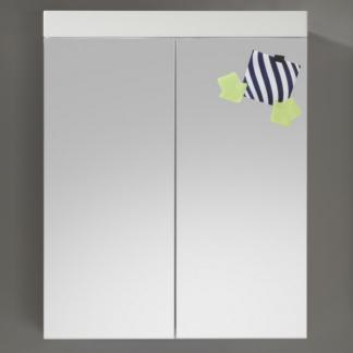 Koupelnová skříňka se zrcadlem Amanda 405, lesklá bílá