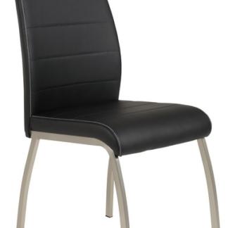 Jídelní židle Amber 5, černá ekokůže