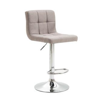 Barová židle, taupe šedohnědá látka / chrom, KANDY NEW 0000220317 Tempo Kondela