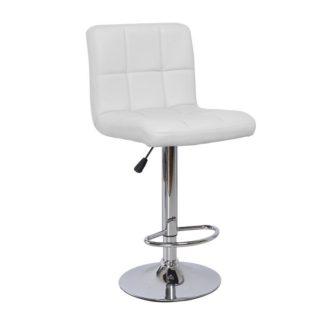 Barová židle KANDY NEW eko kůže / chrom Tempo Kondela Bílá