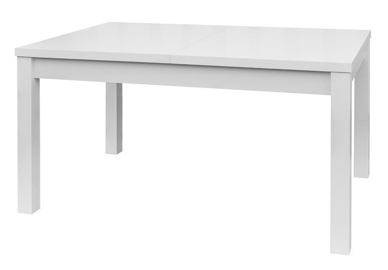 Jídelní stůl Adam 120x80 cm, bílý, rozkládací
