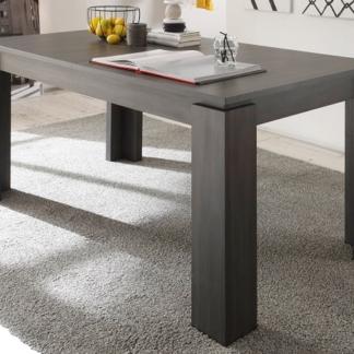 Jídelní stůl Universal 160x90 cm, šedý jasan