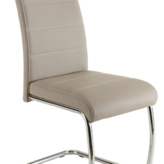 Jídelní židle Flora, cappuccino ekokůže