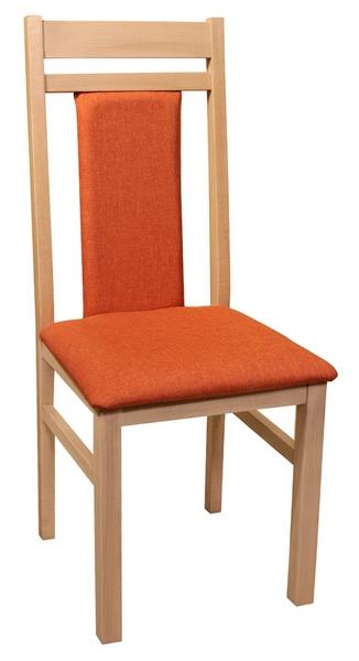 Jídelní židle Michaela, dub/oranžová