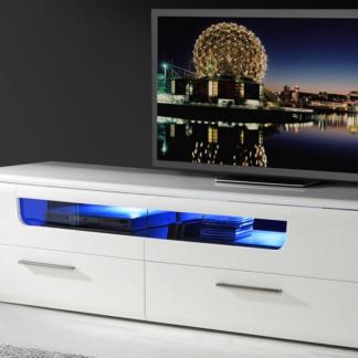 Široká TV komoda Madrano, 180 cm, s osvětlením
