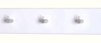 Nástěnný věšák Edmond 42357, bílý lesk