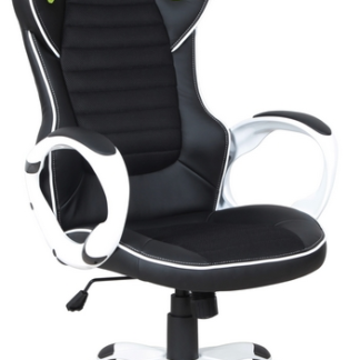 Kancelářské křeslo Cedex, černá/bílá/limetová