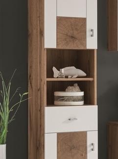 Koupelnová vysoká skříňka Spalt, divoký dub wotan/bílá