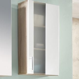 Koupelnová závěsná skříňka Porto, dub sonoma/bílá