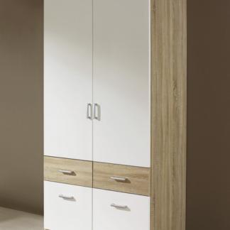 Šatní skříň Bremen, 91 cm, dub sonoma/bílá