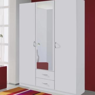 Šatní skříň Case, 136 cm, bílá