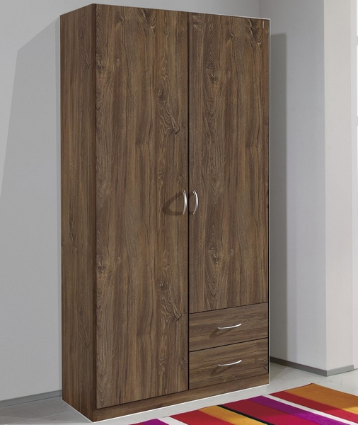 Šatní skříň Case, 91 cm, dub stirling