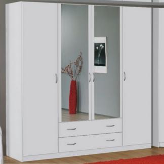 Šatní skříň Case, 181 cm, bílá/bílá