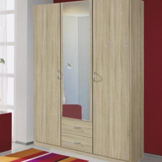 Šatní skříň Case, 136 cm, dub sonoma