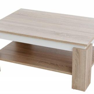 Konferenční stolek Tim 2, dub sonoma/bílá