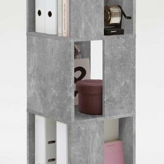 Otočný regál Tower, šedý beton
