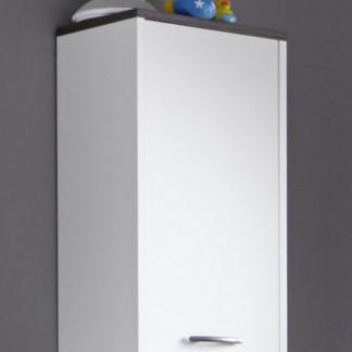 Koupelnová závěsná skříňka California, bílá/šedý dub