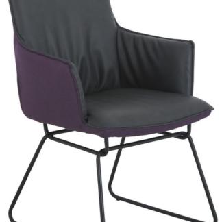 Jídelní židle Henrik, šedá/fialová