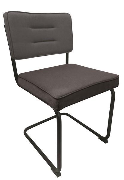 Jídelní židle Salamon, antracitová látka