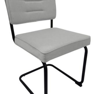 Jídelní židle Salamon, světle šedá látka