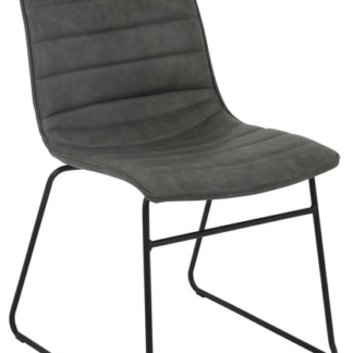 Jídelní židle Rudul, šedá ekokůže