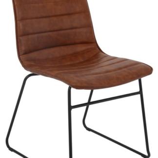 Jídelní židle Rudul, hnědá ekokůže