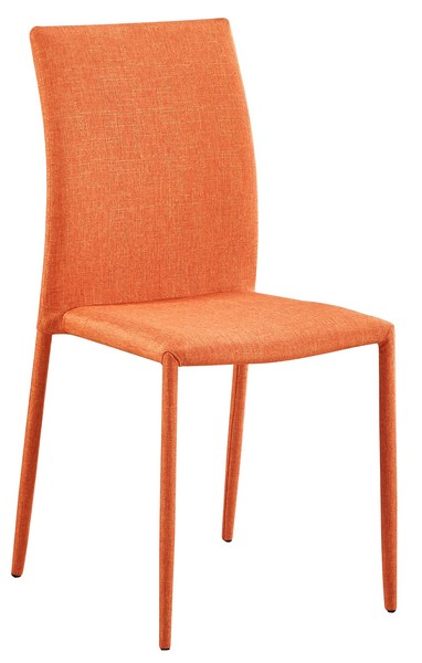 Jídelní židle Rudolfo, oranžová látka