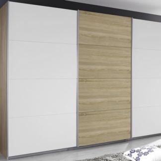 Šatní skříň Kulmbach, dub sonoma/bílá