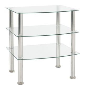 Odkládací stolek Katja 3, čiré sklo