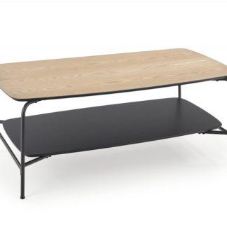 Konferenční stolek GENUA LAW2 110x60 cm jasan / černá Halmar