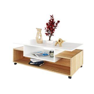 Konferenční stolek na kolečkách, DALEN 0000238016 Tempo Kondela Dub sonoma