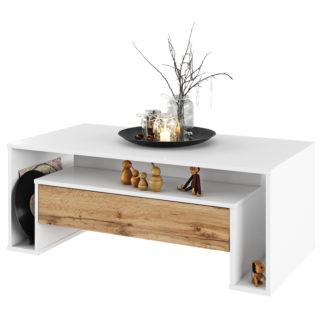 Konferenční stolek, DAWSON 0000238022 Tempo Kondela Bílá