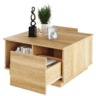 Konferenční stolek, DALAN 0000238057 Tempo Kondela Dub sonoma