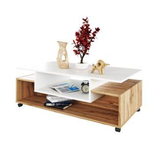 Konferenční stolek na kolečkách, DALEN 0000238016 Tempo Kondela Dub wotan