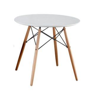 Jídelní stůl, bílá / buk, Gamin NEW 0000229163 Tempo Kondela 90 cm