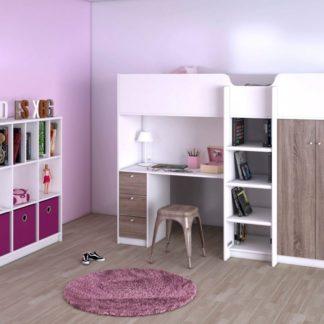 Patrová postel Lyon 82090 90x200 bílá/truffle - TVI
