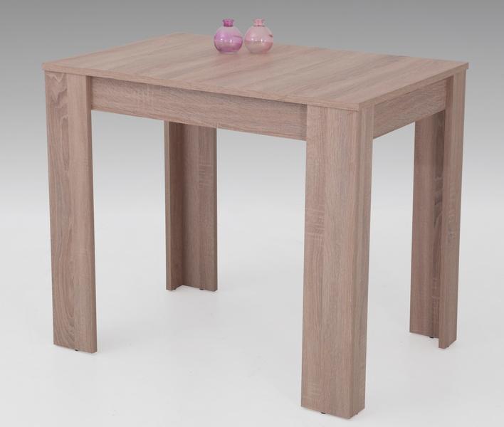 Jídelní stůl Eva, 90x60 cm, dub sonoma, rozkládací