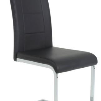 Jídelní židle Joana, černá ekokůže