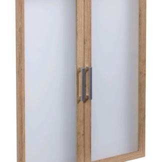 Sada skleněných dveří (2 ks) Calvia 12, starý dub
