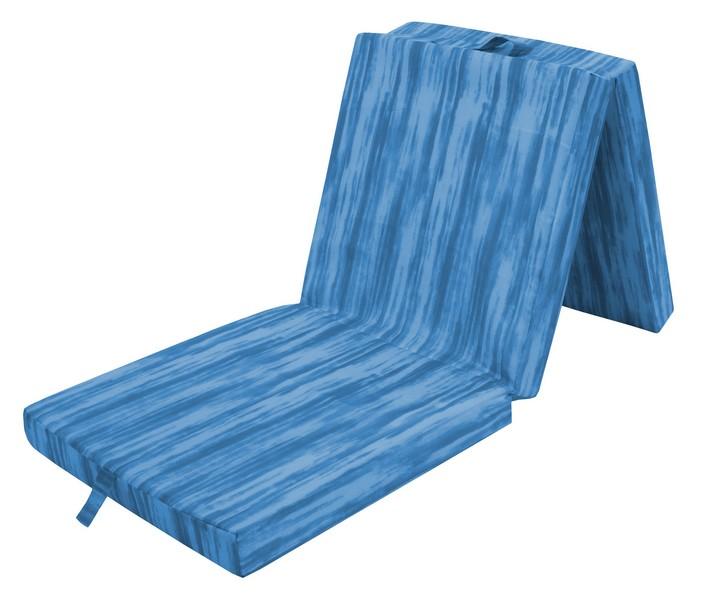 Skládací příležitostná matrace Thommy 190x63, modrá