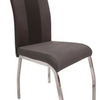 Jídelní židle Bari 2, šedá látka/černá ekokůže
